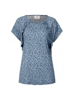 tricou bleu cu volanase , sienna