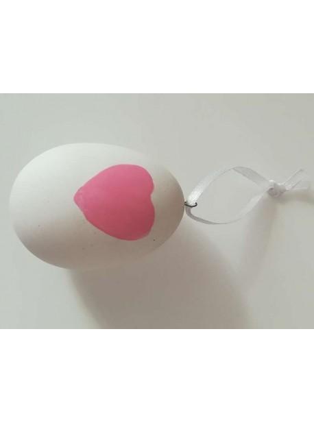 oua cu inimioare roz , 6 buc