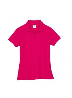 Tricou polo ciclam , bumbac, Fruit of the Loom