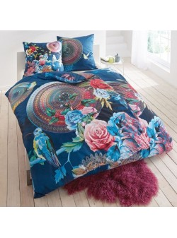 Lenjerie pat , Chiara, cu fermoar, 135x200 cm,satin din bumbac